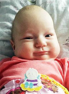 Ариша Савочкина, 3 месяца, деформация черепа, требуется лечение специальными шлемами. 180000 руб.
