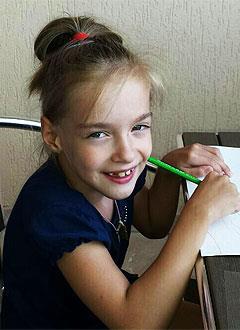 Лиза Курносова, 8 лет, детский церебральный паралич, спастический тетрапарез, требуется кресло-коляска. 218953 руб.