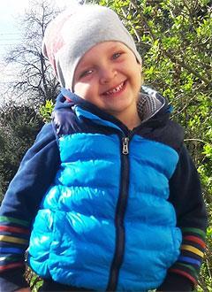Яромир Тимошенко, 5 лет, врожденная деформация стоп, требуется лечение. 314650 руб.