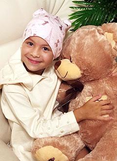 Айзиля Бакирова, 5 лет, злокачественная опухоль головного мозга – глиобластома левого полушария, спасет лучевая терапия. 238700 руб.