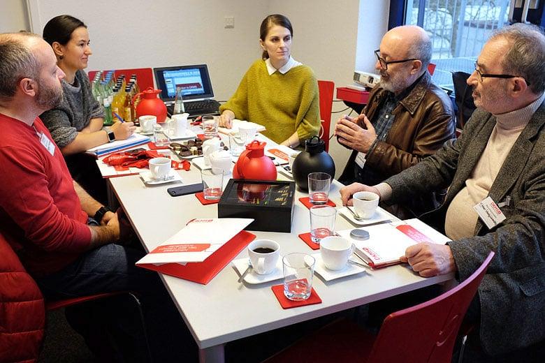 8. DKMS (Кельн, Германия), слева направо: Сергей Амбиндер, Анна Андрюшкина, Катарина Виммер, Лев Амбиндер, Виктор Костюковский