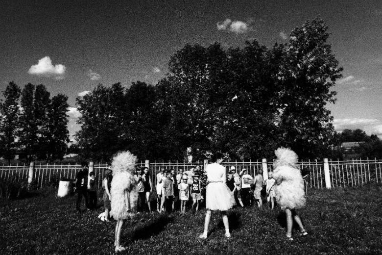 Воспитанники детского дома в Ченцах